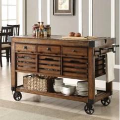 Wooden Kitchen Cart Simple Table Centerpiece Ideas Wood And Metal Wayfair Belfield