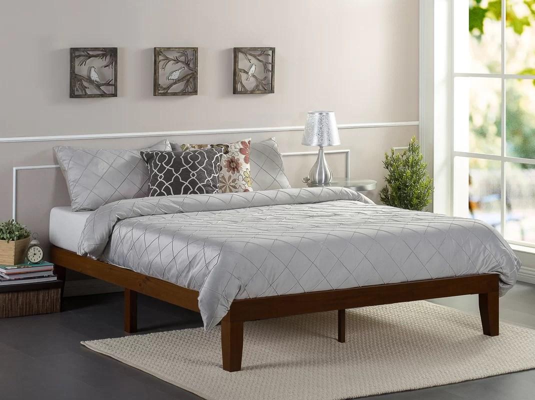 Winston Porter Hullinger Solid Wood Platform Bed & Reviews