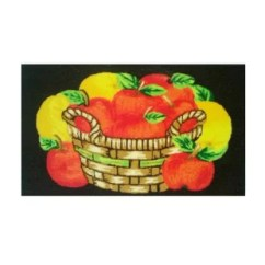 Apple Kitchen Rugs Wooden Tables Red Wayfair Decimus Apples Mat