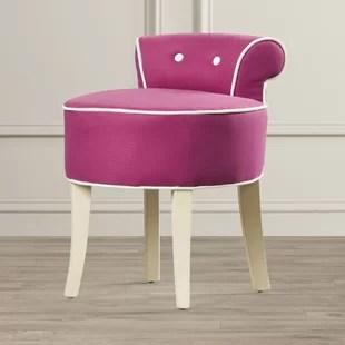pink vanity chair electric execution video blush stool wayfair glanz