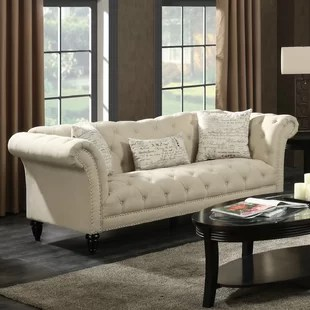 modern twine curved arm sofa tan leather and chaise set hollywood regency wayfair quickview