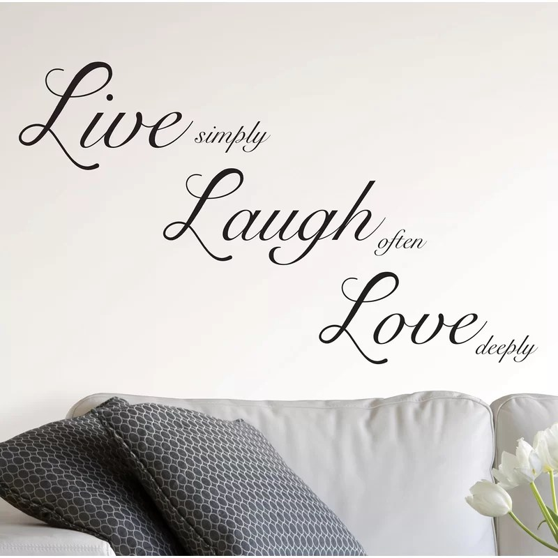 live laugh love wall