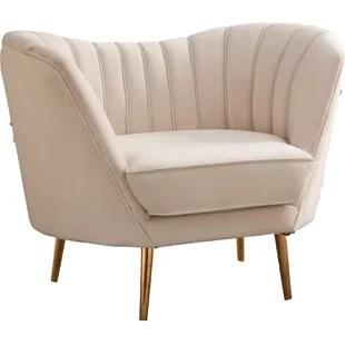 high back tufted chair desk chairs for girls modern contemporary velvet allmodern quickview