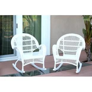 wicker rocking chairs dark teal velvet chair white set wayfair quickview