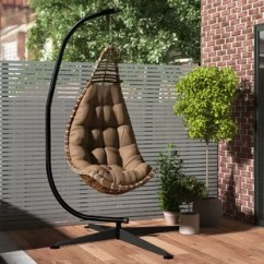 Swing Chair With Stand Kuwait Oversized Slipcover T Cushion Indoor Hanging Wayfair Algrenon Solid C Frame Metal Hammock