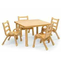 Toddler Table And Chair Set Leather Stool Uk Sets Wayfair Naturalwood 30 Square