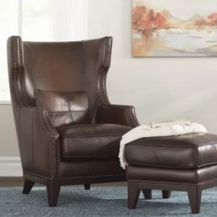 Leather Living Room Chairs Modern Curtain Rod Ottoman Included You Ll Love Wayfair Rena Wingback Chair