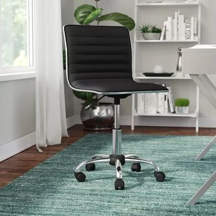 chair on wheels ergonomic back angle wayfair quickview