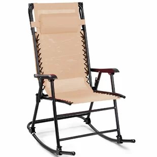 foldable rocking chair steel for office wood folding wayfair quickview