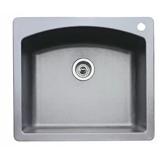 24 inch kitchen sink delta faucets drop in wayfair diamond 25 l x 22 w single bowl