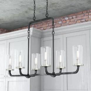 kitchen island light cheap curtains pendants birch lane kylee 6 pendant