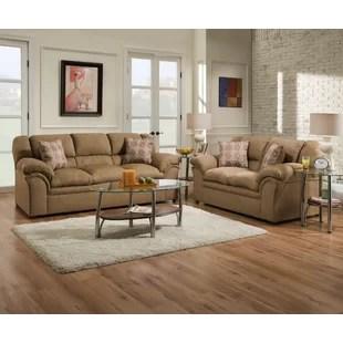 microfiber living room furniture modern curtain designs for 2018 sets you ll love wayfair elza configurable set