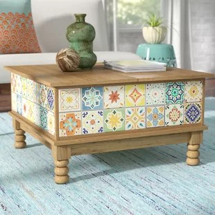 coffee table with tile top | wayfair