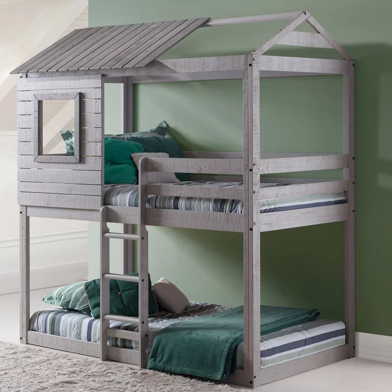 Donco Kids Twin Over Twin Bunk Bed Amp Reviews Wayfair