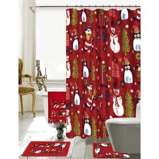 Christmas Shower Curtains You Ll Love Wayfair