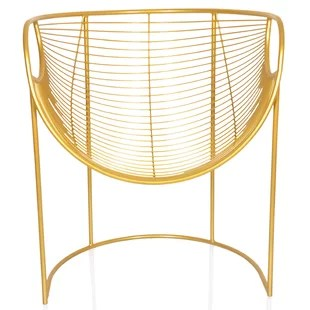 metal papasan chair swing double modern contemporary rose gold allmodern quickview