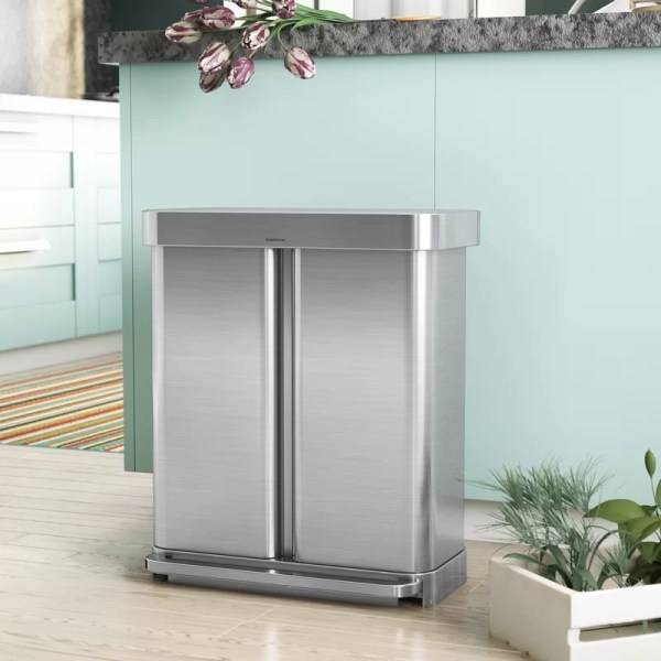 Simplehuman 15 Gallon Dual Compartment Rectangular Step
