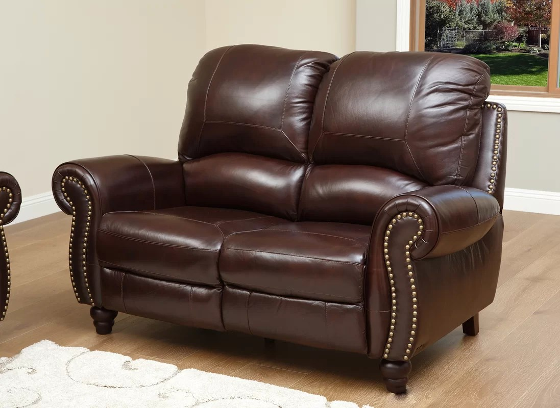 durham sofa wayfair klaussner sofas uk darby home co kahle leather reclining loveseat and reviews