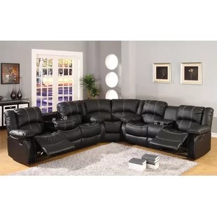leather couch and chair folding covers sectional set wayfair quickview