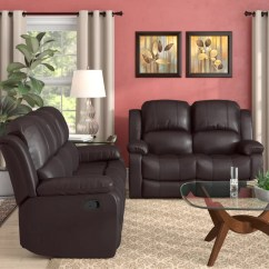 Living Room Furniture Leather And Upholstery Modern Style Ideas Red Barrel Studio Maumee Reclining 2 Piece Set Reviews Wayfair Ca