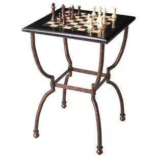chess table and chairs hula chair for sale with wayfair metalworks