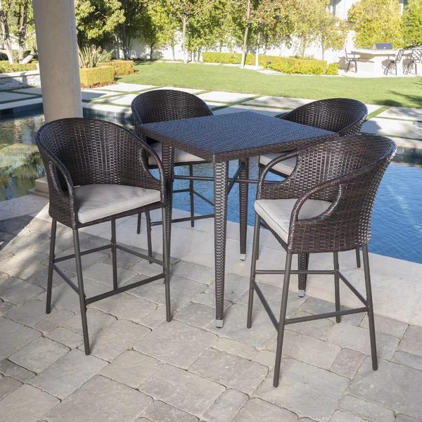 bar height table and chairs outdoor patio for sale modern contemporary allmodern search results