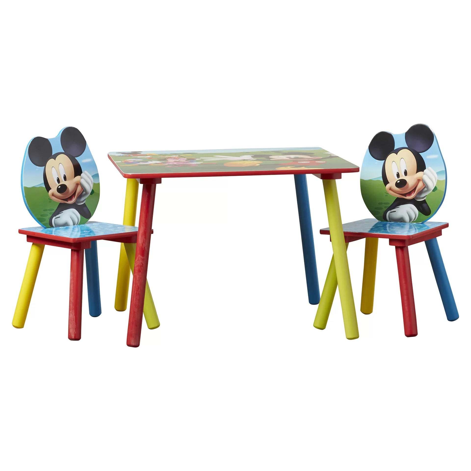 Mickey Mouse Chairs For Toddlers Mickey Mouse Kids 3 Piece Writing Table And Chair Set