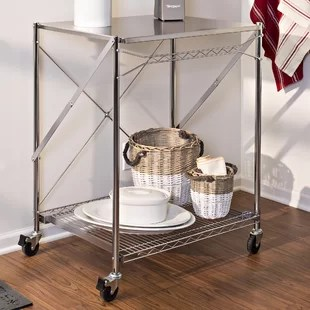 folding kitchen cart cabinet pull outs origami wayfair