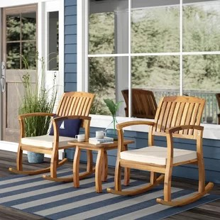 3 piece outdoor table and chairs ikea chair covers jennylund patio you ll love wayfair coyne acacia set