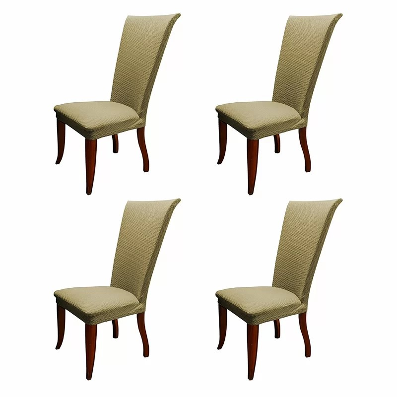 basket weave dining chairs high wing back charlton home stretch polyester chair slipcover
