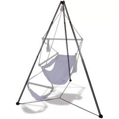 Swing Chair Drawing How To Replace Lawn Webbing Hammaka Aluminum Hammock Stand Reviews Wayfair