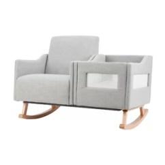 Sofa Rocking Chair Lime Green Chairs You Ll Love Wayfair Ca Emerson Convertible Nursing Rocker In Grey