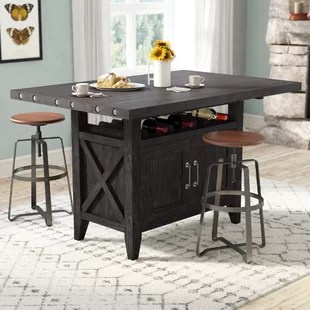 kitchen table storage sinks houzz counter height dining tables you ll love wayfair langsa extendable