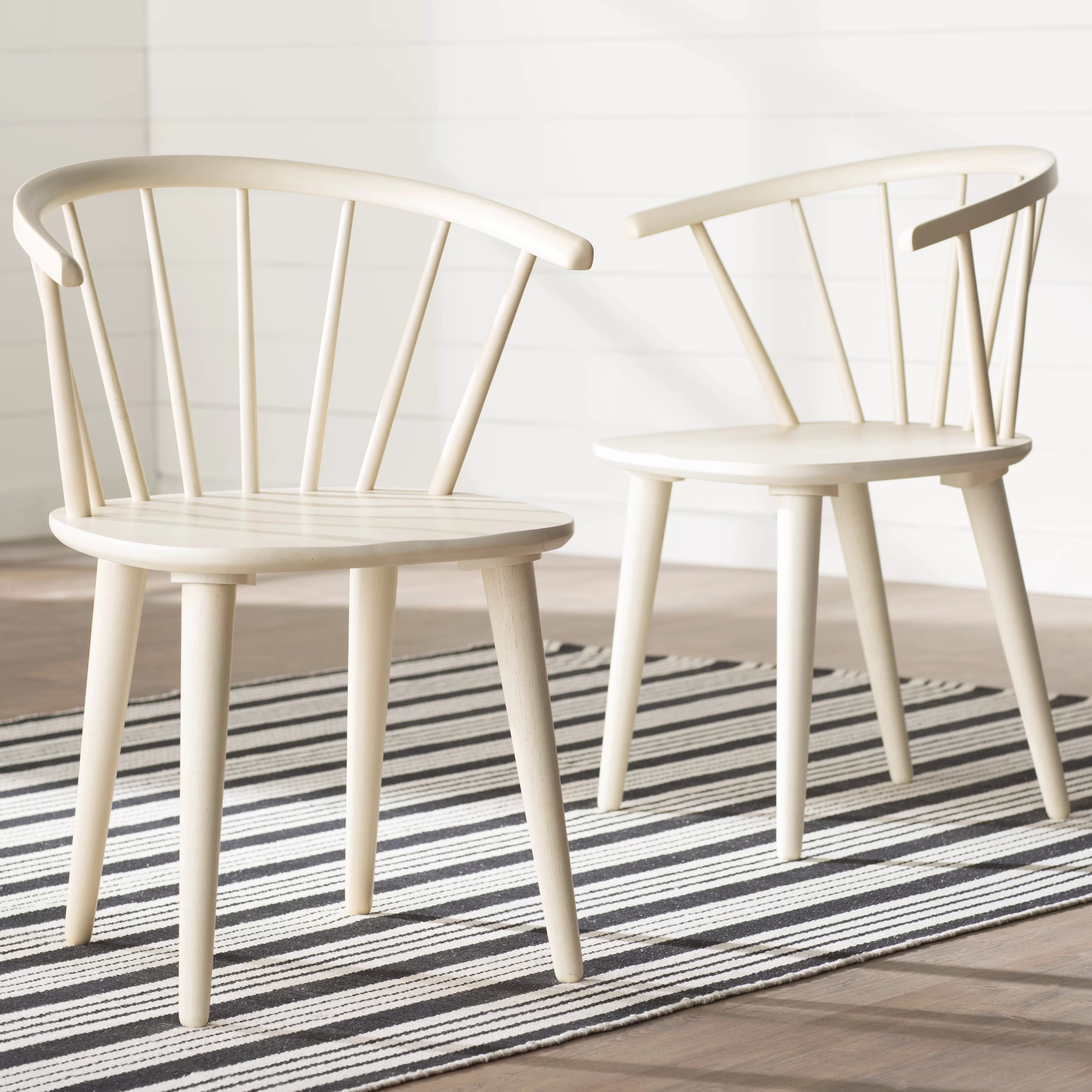 White Wooden Dining Chairs Dora Grove Solid Wood Dining Chair