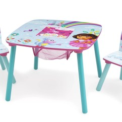 3 Piece Table And Chair Set Grosfillex Bahia Chaise Lounge Delta Children Nickelodeon S Dora The Explorer Kids Square Wayfair