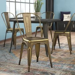 Set Of 4 Dining Chairs Decorated Baby Shower Chair Kitchen You Ll Love Wayfair Halie