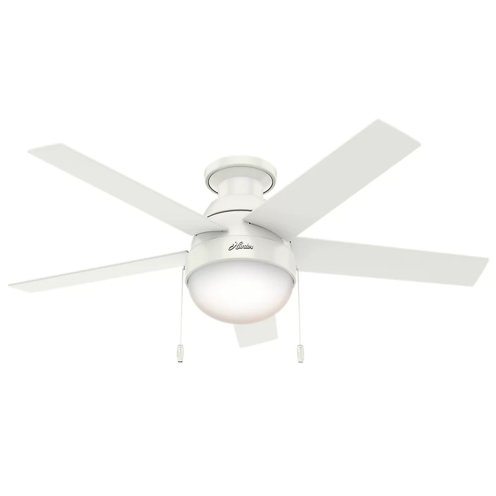 hight resolution of hunter fan 46 anslee 5 blade ceiling fan light kit included reviews wayfair