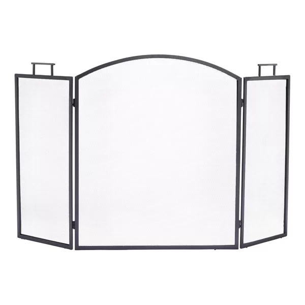 Pleasant Hearth Classic 3 Panel Steel Fireplace Screen