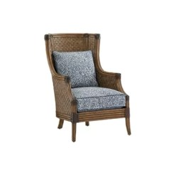 Wicker Wingback Chairs Baby Chair Images Rattan Accent You Ll Love Wayfair Twin Palms
