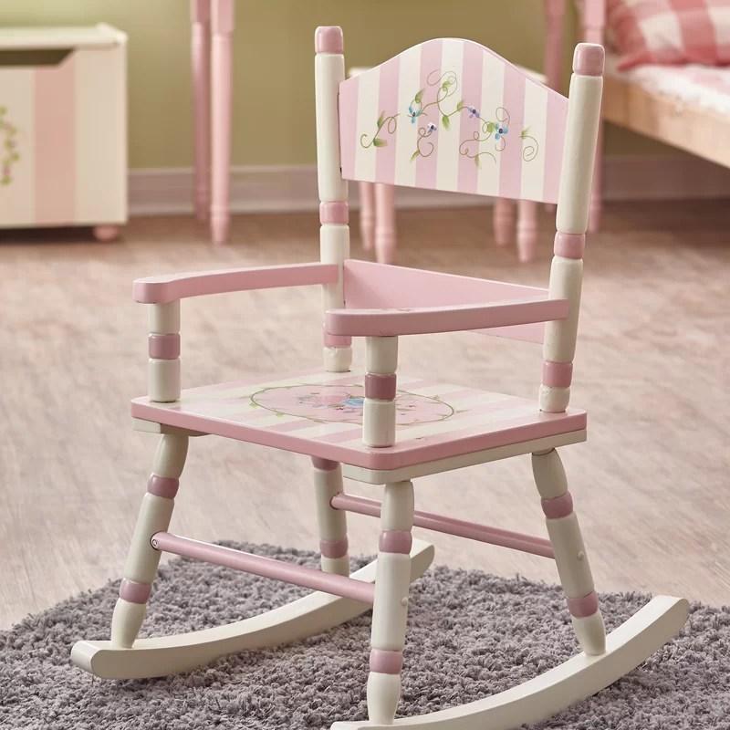 children rocking chairs mamas and papas high chair fantasy fields bouquet kids reviews wayfair