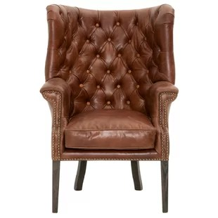 leather wing chairs chair covers for sofa and loveseat cream wingback wayfair fonteyne