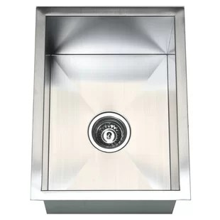 small kitchen sinks organizing cabinets islands with wayfair 15 l x 20 w single bowl undermount sink