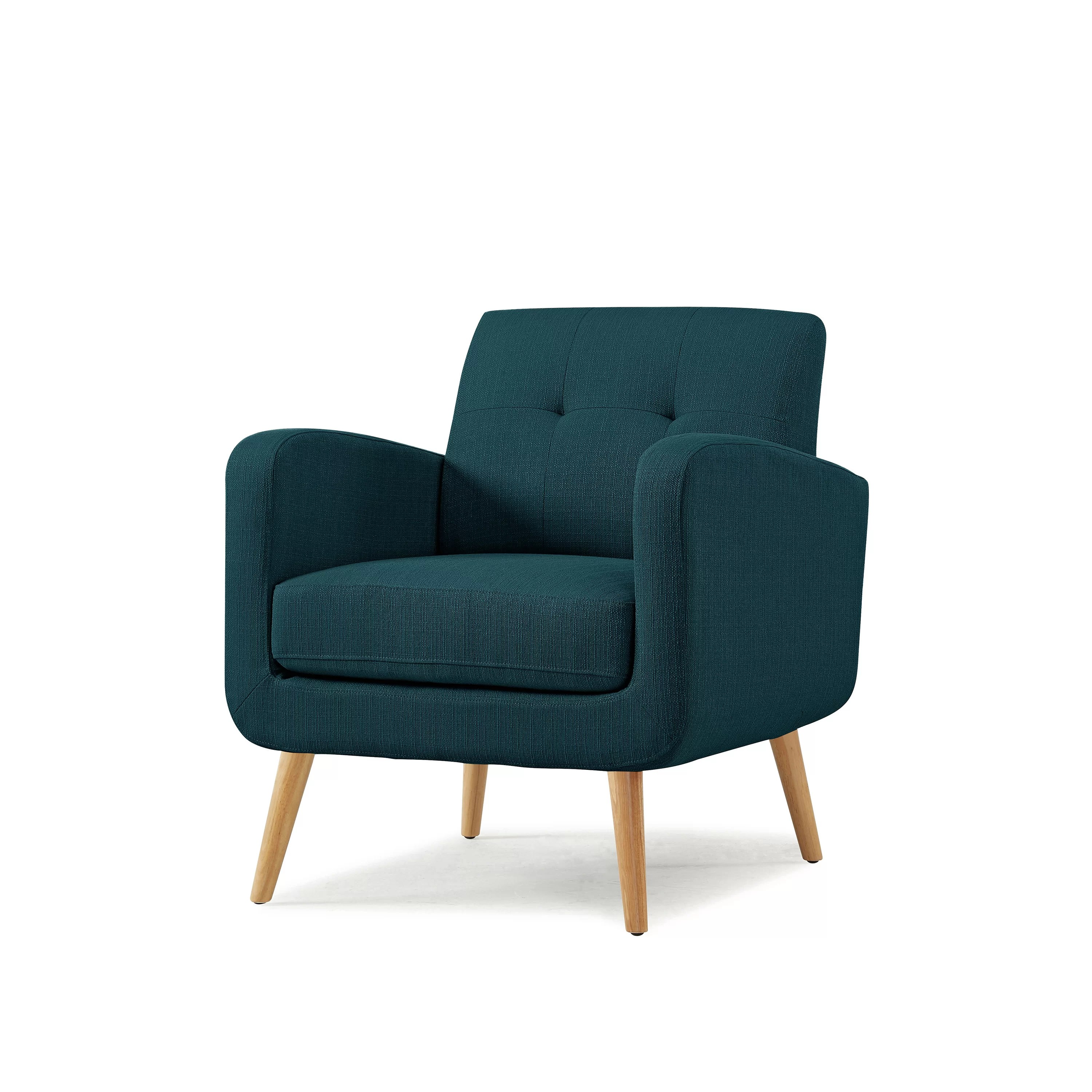 turquoise lounge chair teal cushions valmy reviews joss main