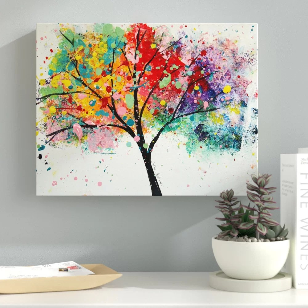 rainbow tree iii painting
