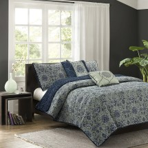 Alcott Hill Forrest 5 Piece Reversible Quilt Set