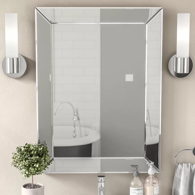 Wade Logan Rectangle Silver Vanity Wall Mirror  Reviews