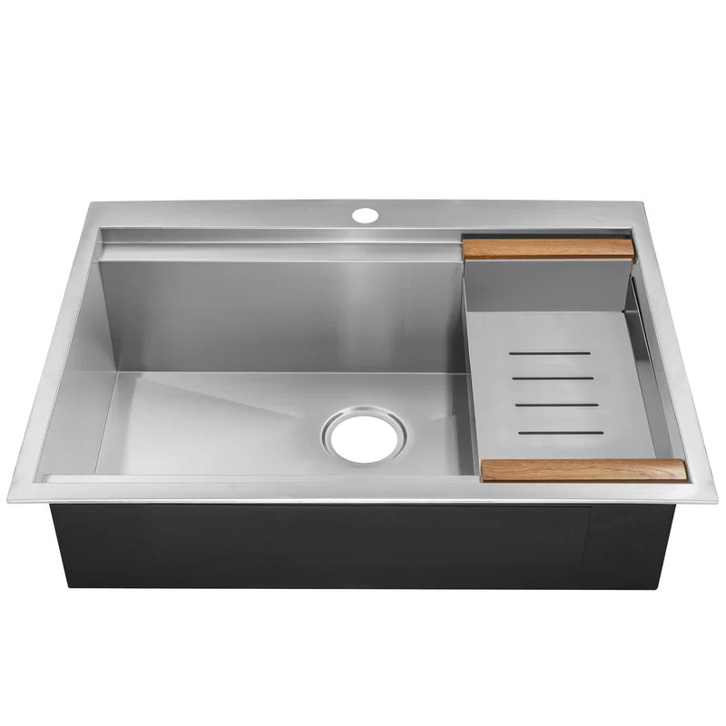 30 kitchen sink modern chairs x 22 drop in top mount stainless steel single bowl