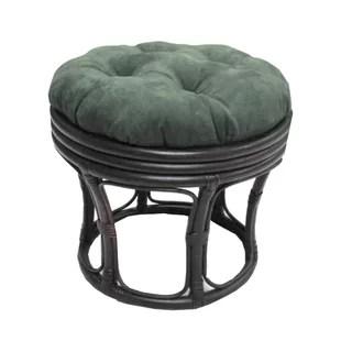 papasan chair stool cushions steel furniture wayfair ottoman cushion