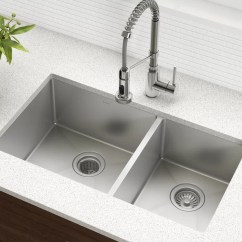 Buy Undermount Kitchen Sink Design Dayton Ohio Kraus 33 L X 19 W Double Basin With Drain Assembly