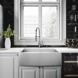 country kitchen sink ice maker farmhouse sinks you ll love wayfair quickview